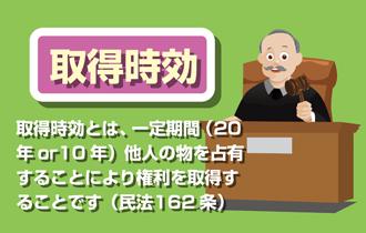 公有地の時効取得、取得時効とは、一定期間(20年or10年)他人の物を占有することにより権利を取得することです(民法162条)