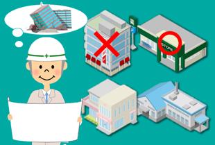 各地で「要緊急安全確認大規模建築物」について、耐震診断の結果が公表されています。